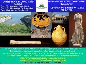 LOCANDINA MUSEO PAOLO ORSI TONNARA S.PANAGIA 7GIUGNO2015
