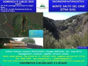 LOCANDINA MONTE SALTO DEL CANE 5LUGLIO2015