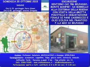 LOCANDINA SENTIERO CAI PRIMA PARTE DOMENICA 25OTTOBRE2015