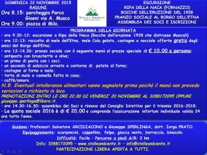 LOCANDINA ESCURSIONE RIPA NACA E ASSEMBLEA 22NOVEMBRE2015