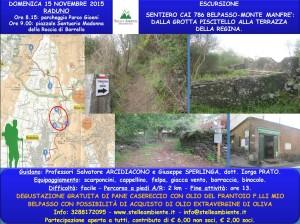 LOCANDINA ESCURSIONE TERZA TAPPA SENTIERO CAI BELPASSO 15NOVEMBRE2015