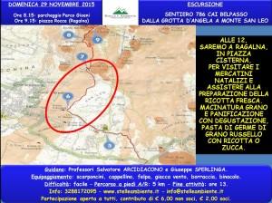 LOCANDINA GROTTA D'ANGELA-MONTE SAN LEO 29NOVEMBRE2015