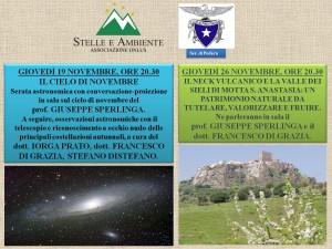 LOCANDINA INCONTRI CAI PEDARA 19-26NOVEMBRE2015