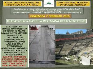 LOCANDINA TEATRO ROMANO E MERIDIANA 7FEBBRAIO2016