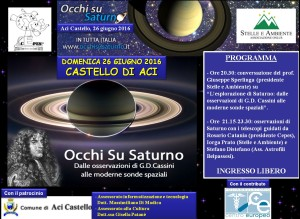 LOCANDINA DEFINITIVA OCCHI SU SATURNO 26GIU2016 ACICASTELLO