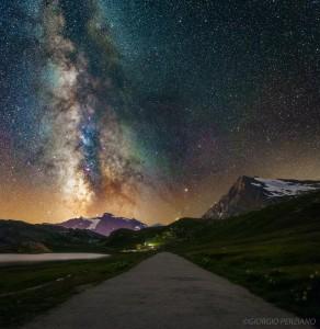 La Via Lattea ripresa dal Colle del Nivolet nei pressi del Rifugio Savoia.