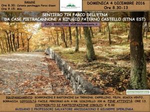 LOCANDINA PIETRACANNONE RIFUGI PATERNO'CASTELLO 4DICEMBRE2016
